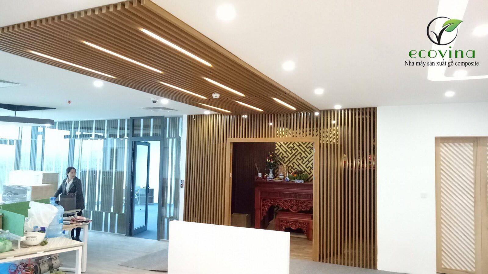 Thi công trần gỗ nhựa composite như thế nào ?