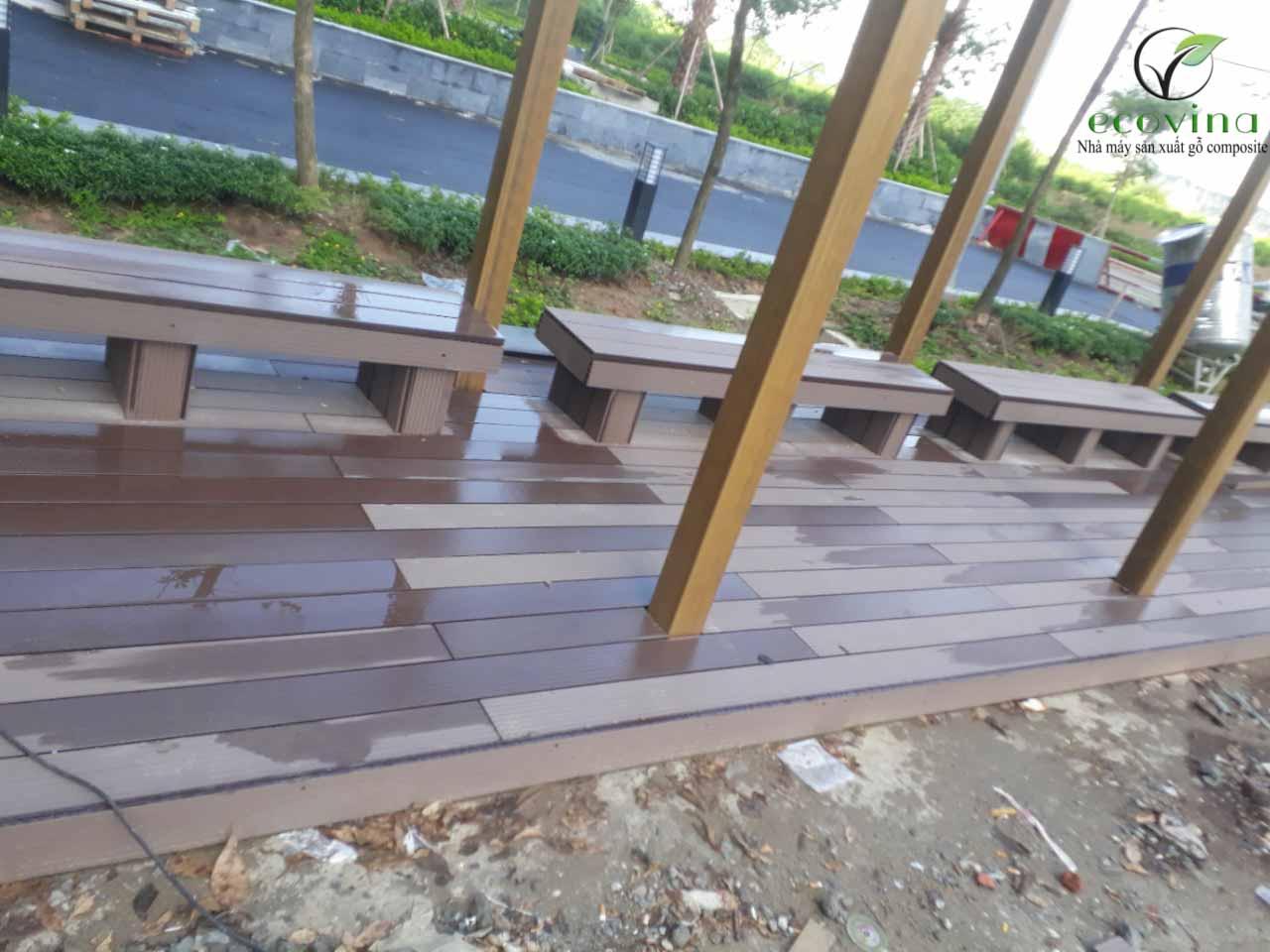 Trần nan- sàn gỗ ngoài trời Ecovina