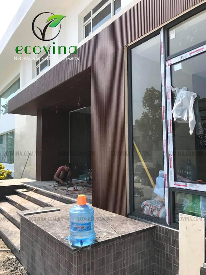 Thi công tấm ốp ngoài trời Ecovina