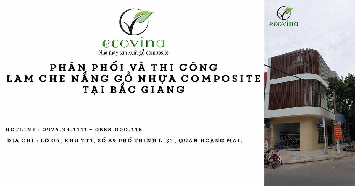 Phân phối và thi công lam che nắng gỗ nhựa composite tại Bắc Giang