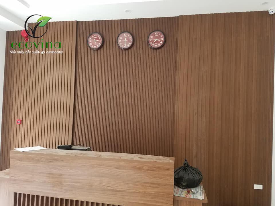thi công gỗ nhựa composite - tấm ốp tường gỗ nhựa