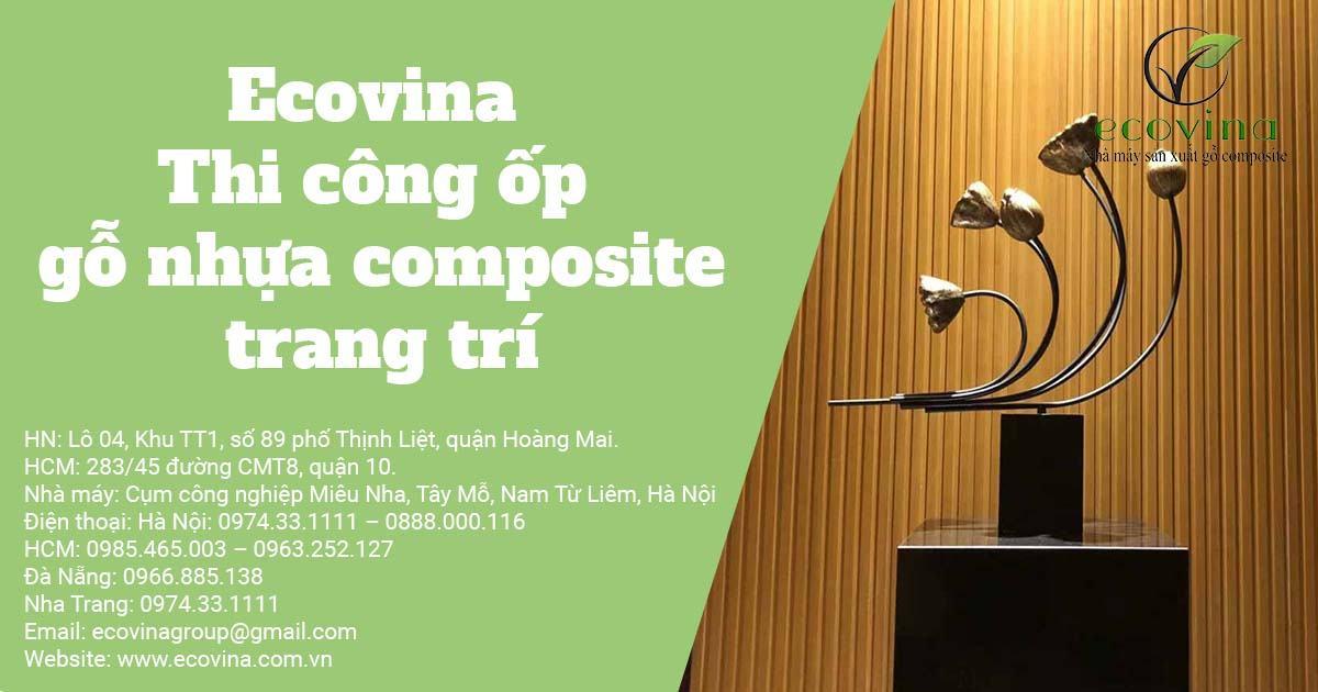 Ecovina - Thi công ốp gỗ nhựa composite trang trí
