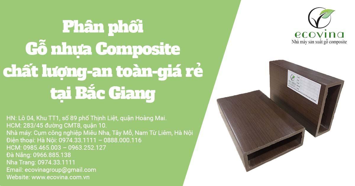 Phân phối Gỗ nhựa Composite chất lượng-an toàn-giá rẻ tại Bắc Giang