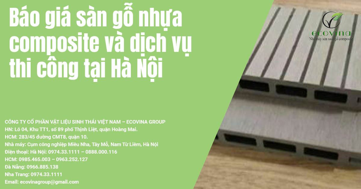 Báo giá sàn gỗ nhựa composite và dịch vụ thi công tại Hà Nội