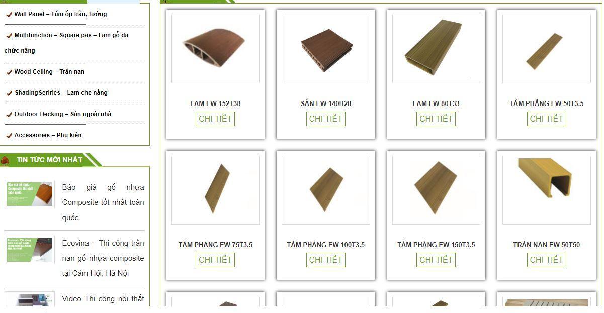 List mã sàn gỗ ngoài trời