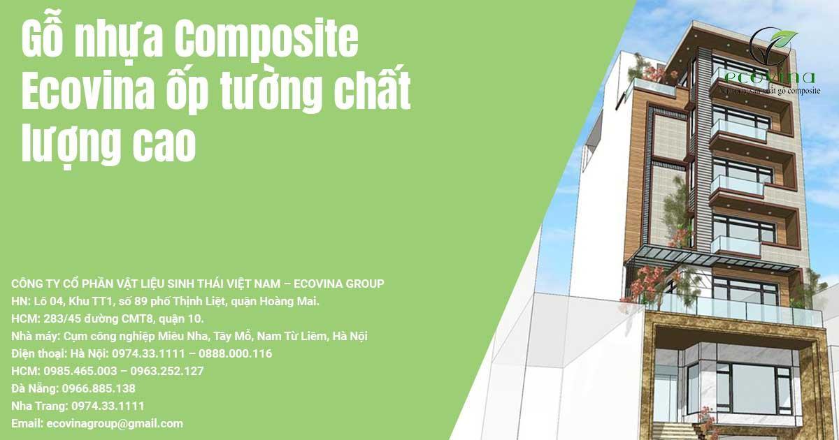 Gỗ nhựa Composite Ecovina ốp tường chất lượng cao