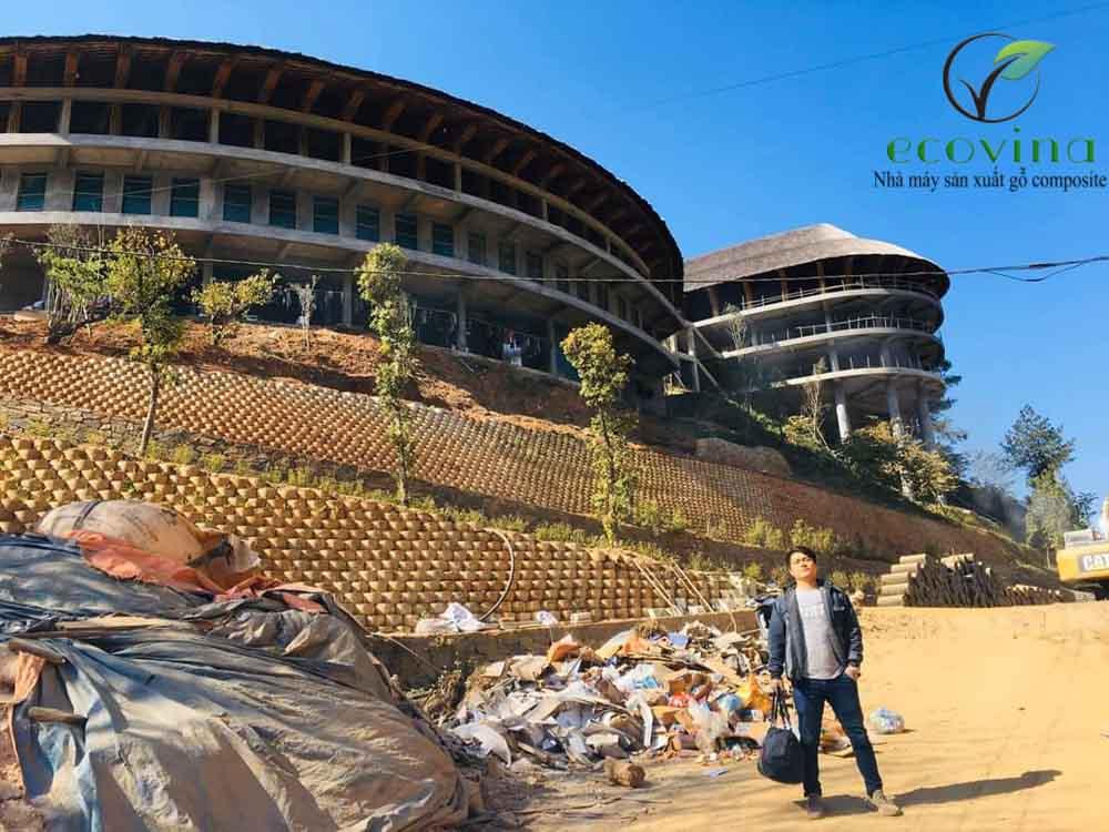 Công trình sử dụng gỗ nhựa composite ecovina