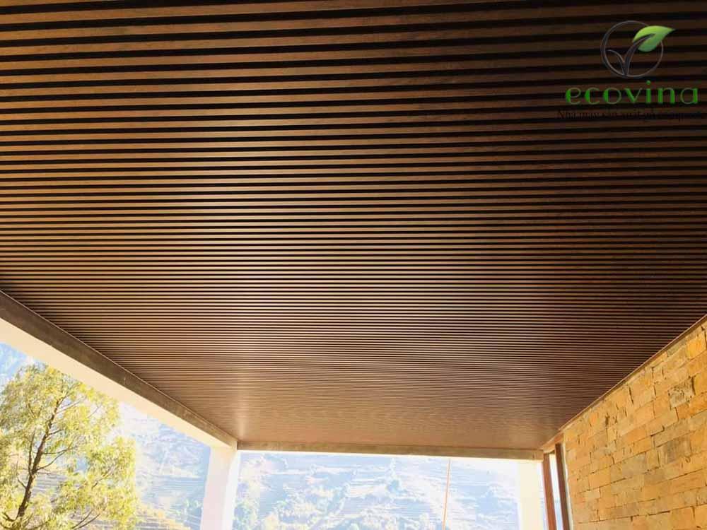 gỗ nhựa composite ốp trần ecovina