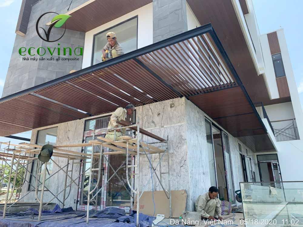 Công trình thi công trần nan gỗ nhựa composite tại tòa nhà Bắc Ái, Vĩnh Phúc