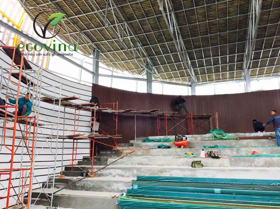 Gỗ composite ECOVINA  sử dụng cho nội ngoại thất cho công trình