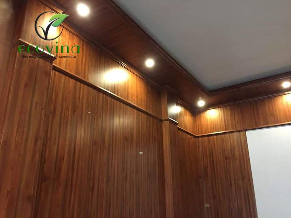 Ốp trần tường gỗ nhựa composite phủ nano do Ecovina sản xuất mới nhất 2020