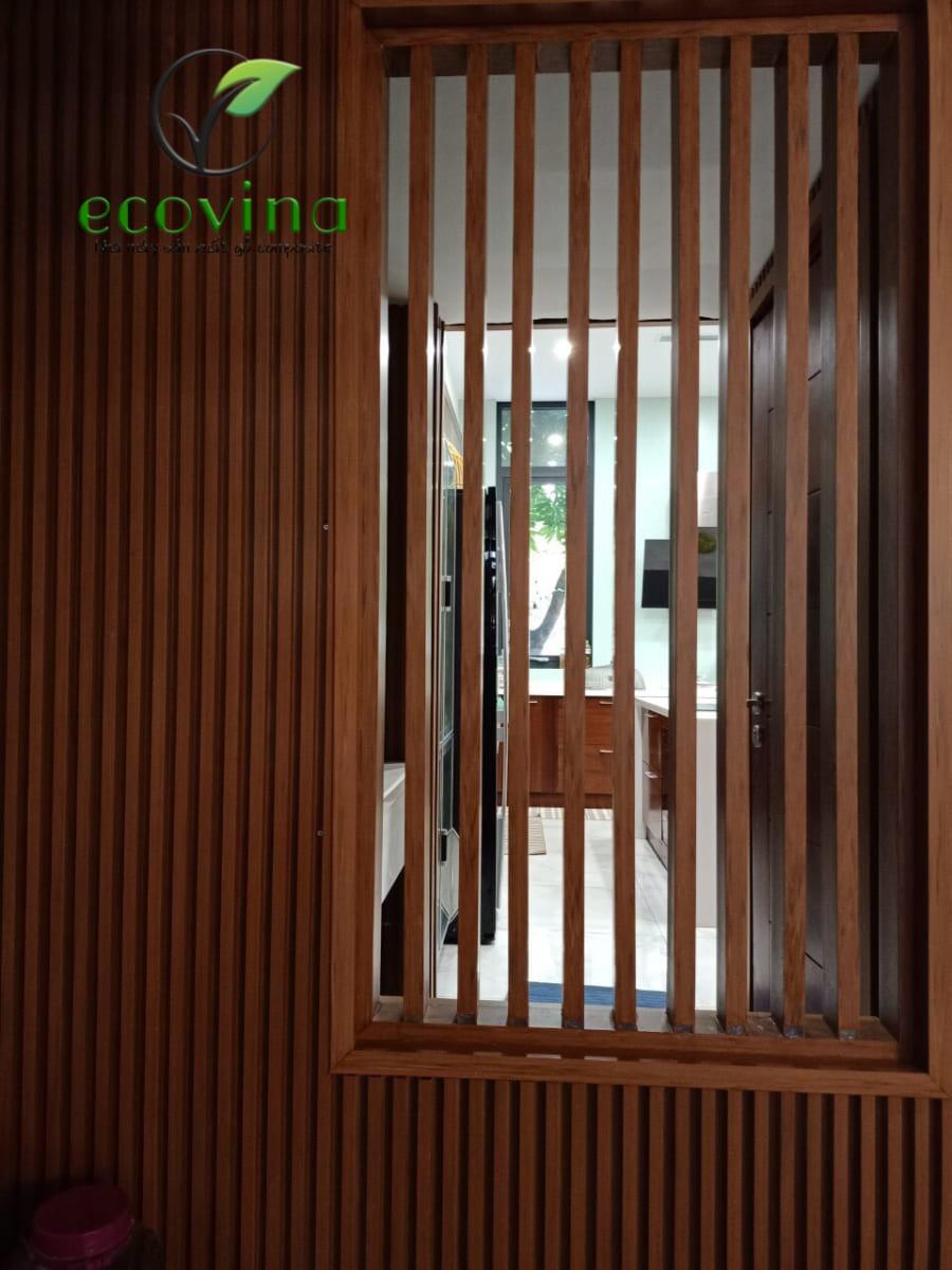 Vách lam gỗ trang trí Ecovina