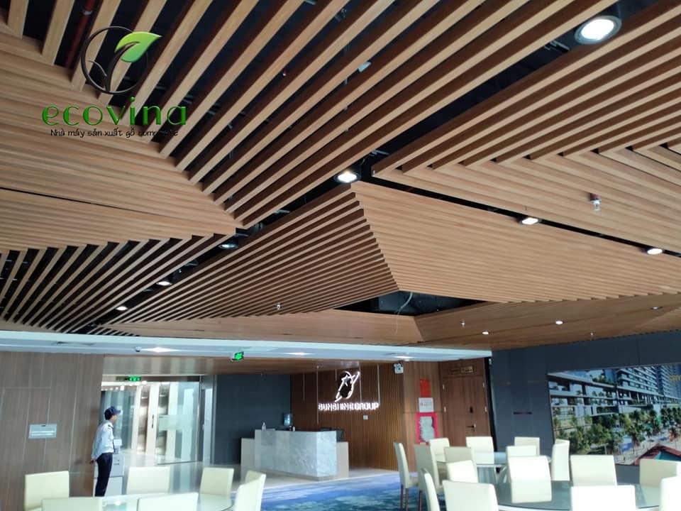 Công trình sử dụng trần nan gỗ nhựa do ECOVINA thi công