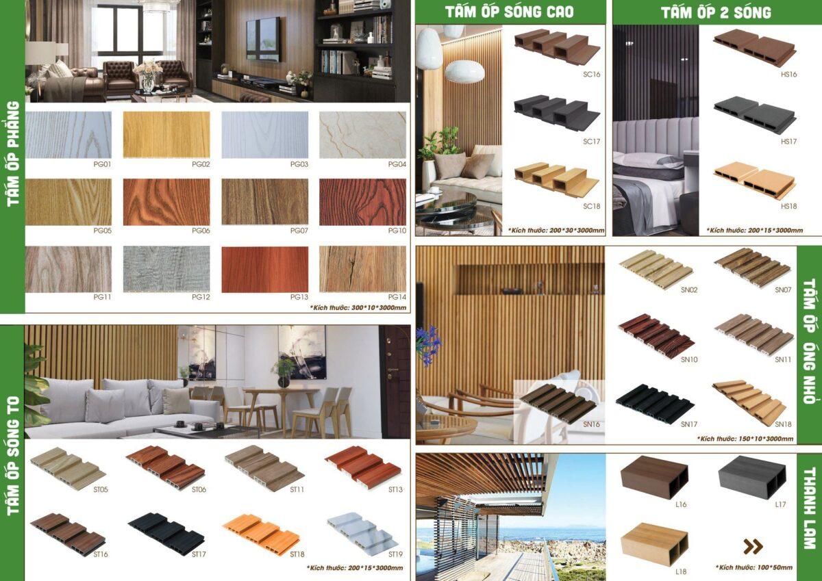 Thông số kỹ thuật tấm nhựa giả gỗ ốp tường- gỗ nhựa Ecovina