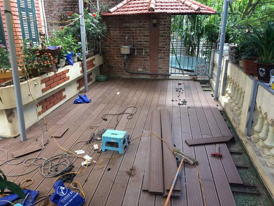 Cách lắp sàn gỗ nhựa ngoài trời