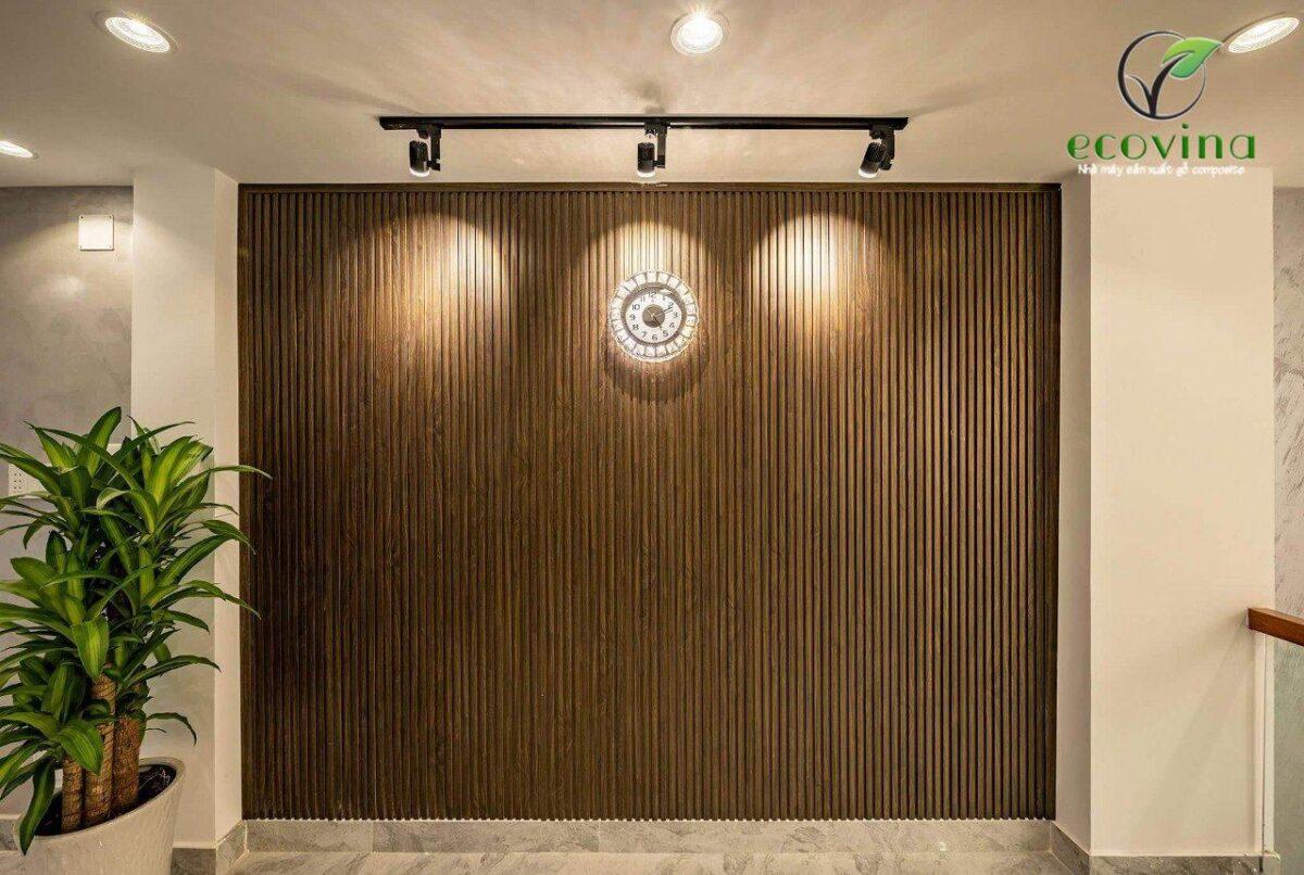 Lam nhựa giả gỗ ốp tường, ốp tường gỗ nhựa Ecovina