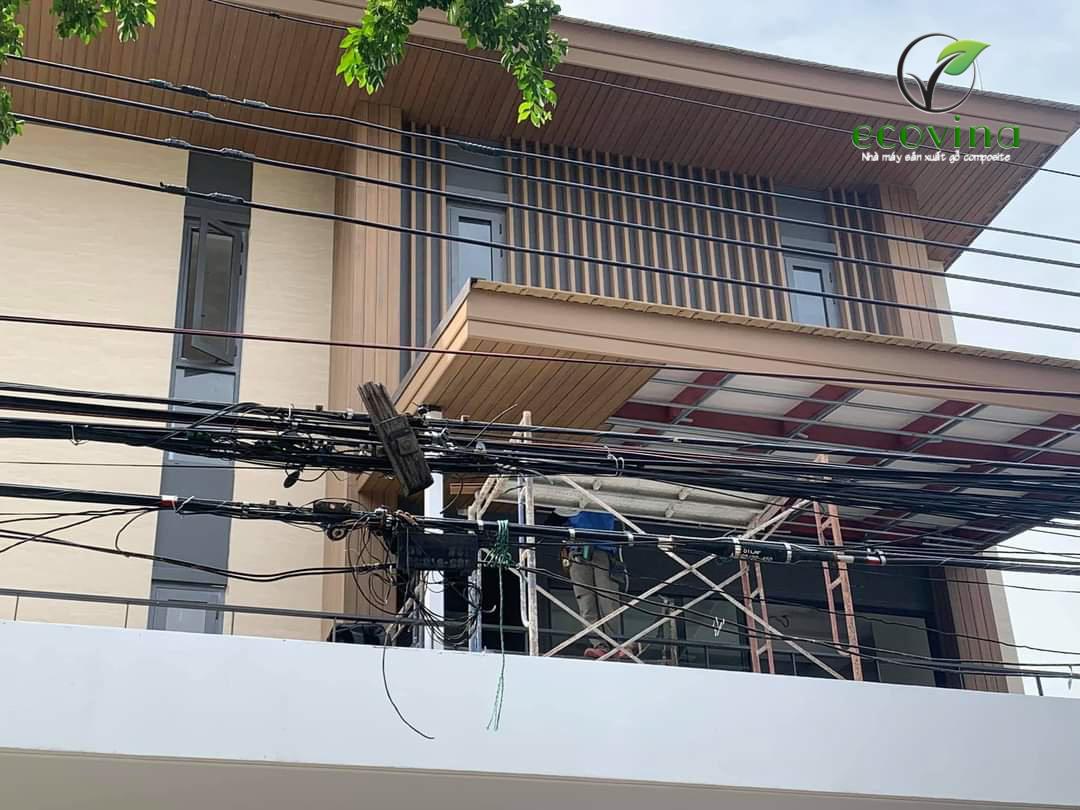 Thi công tấm ốp tường trần gỗ nhựa composite tại Thái Lan 2021